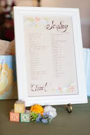 The Seating Chart A Garden Themed Baby Shower Filled With