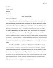 gothic literature study resources 3 pages gothic horror literature essay