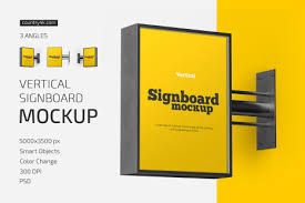 Mega list of the best different advertising mockups complete with high resolutions and easy to use and customize via smart objects. Newest Outdoor Advertising Mockups On Yellow Images Creative Store