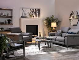 modern living room with talin power reclining sofa w usb