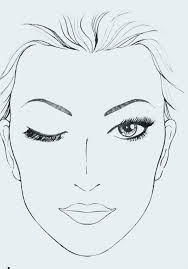Blank Face Templates Adorable For Mac Makeup Face Charts Templates Here Are List Of Mac Makeup For