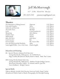 Audition Resume Template Audition Resume Template Audition Cv