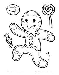 Gingerbread Girl Coloring Sheet Page Free Printable Pages Click The