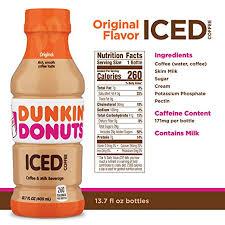 dunkin donuts original iced coffee bottle 13 7 fl oz amazon grocery gourmet food