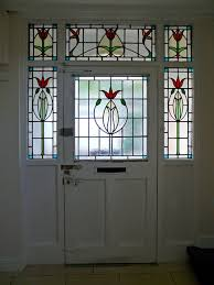 stained glass door panel 14