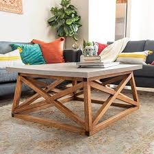 diy square coffee table with angled