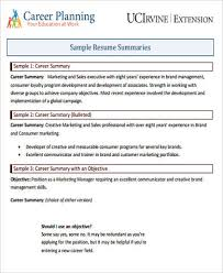 resume career summary example resume career overview example