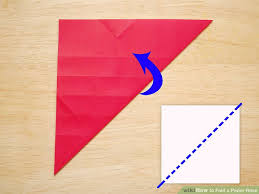 How To Make A Flower Out Of Paper Step By Step How To Fold A Paper Rose With Pictures Wikihow