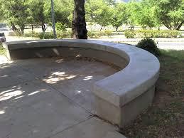 concrete garden bench. Concrete Garden Bench Cool Half Circle