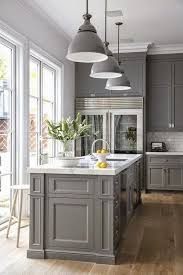 grey painted kitchen cabinetsClassic Gray Kitchen Cabinet Paint Color  Home Styling