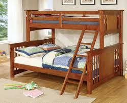 Mission Oak Bedroom Furniture Furniture Of America Cm Bk604oak Spring Creek Transitional Mission
