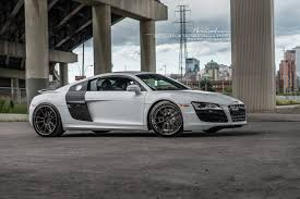 black audi r8 black rims. white audi r8 v10 on 20 black rims