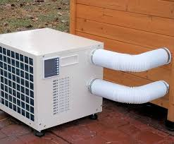 air conditioning dog house. no matter what the weather is outside, you can keep your pet comfortable with this. dog house air conditionerair conditioning