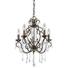 chandeliers outdoor candle chandelier portfolio roz 16 in 5 light dark bronze vintage crystal