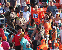 violence in sports  miami dade police arrest female spectator during nfl match between miami dolphins and buffalo bills at sun life stadium 24 2012