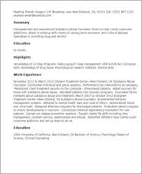professional substance abuse counselor templates to showcase your    resume templates  substance abuse counselor