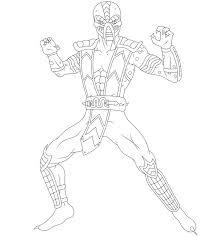 Small Picture Game Mortal Kombat Coloring Pages Jade Mortal Kombat Coloring