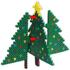 Système Du0027emboitage Pour Des Objets En Relief  Perles à Repasser Perler Beads Christmas Tree
