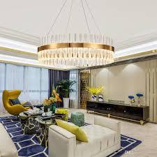 Großhandel Postmodern Kronleuchter Licht Luxus Kristall Gold Edelstahl Kronleuchter Kreative Wohnzimmer Schlafzimmer Studie Kronleuchter Von Honpus