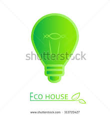eco friendly lighting concept green icon with led lightbulb vector low energy bulb eco1 eco