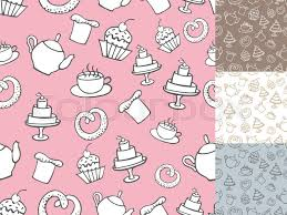 Vintage Retro Bakery Seamless Pattern Stock Vector Colourbox
