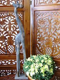 gordon the wooden giraffe 100cm