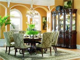 classic round dining table for 8 ornamental dining room