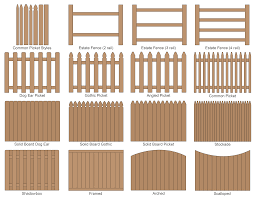 fence styles. Contemporary Styles Common Fence Styles With E