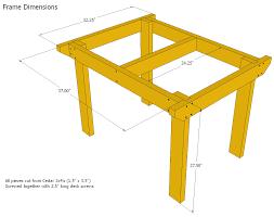 Simple Furniture Plans Patio Table Plans