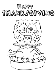 While they are choosing what crayon or marker to color the turkey with you can explain to them why americans celebrate thanksgiving. Thanksgiving Coloring Pages Spongebob Coloring4free Coloring4free Com