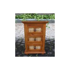 Mango Bedroom Furniture Matchstick 3 Drawer Nightstand In Mango Wood At
