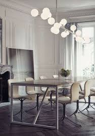 gorgeous home interior for new house in modern style vine dining area at baron haussmann residence with fireplace