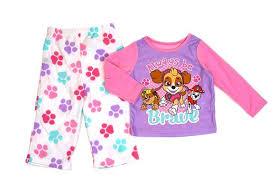 Nickelodeon Toddler Girls 2 Piece Paw Patrol Fleece Pajama Set Pink
