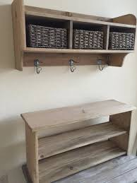 Coat Rack With Storage Shelves Simple Rustic Hall Tree Primitive Bench And Coat Rack Entry Way Bench