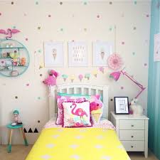 Girls Flamingo Bedroom with Pops of Yellow and Teal - Ocea's room by