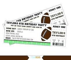 Free Football Invitation Templates Luxury Free Printable Movie Ticket Invitation Templates Or
