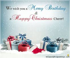 Christmas Birthday Cards We Wish You Merry Birthday Christmas Birthday Cards