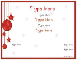 Download Gift Certificate Template Christmas Present Gift Certificate Template Blank Certificates