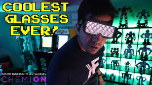 CHEMION : Unboxing & Review : <b>LED SMART</b> GLASSES! 2019 ...