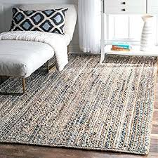 best jute rug or wanna purchase best area rugs blue hand braided striped jute rug 56