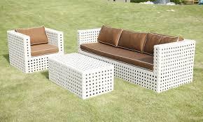 modern white wicker patio furniture