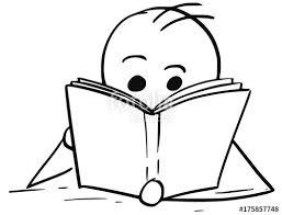 man or boy reading a book