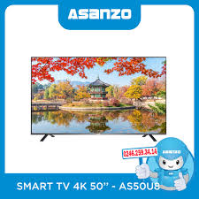 Smart Tivi Asanzo 50 inch 50U8 4K Chính Hãng, Giá Rẻ, Uy Tín tại Hà Nội
