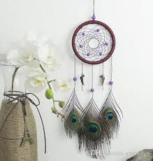 Dream Catcher Wind Chimes Handmade Indian Peacock Dreamcatcher Feather  Pendant Car Hanging Ornament Craft Wish Gift B953L Charm Dreamcatcher Dream  Catcher ...