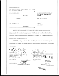 Plaintiff(sj, - against - A.C. & S, Inc., et al. NO OPPOSITION SUMMARY  JUDGMENT MOTION AND ORDER Index No.: 217638/92 I.A.S.