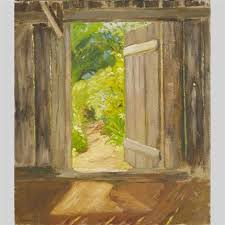 open door to our garden by louis muhlstock painting77 painting
