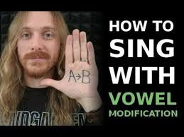 How To Sing With Vowel Modification Singing Lesson