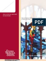 LTSP Annual Report 2010 | Christian Denominational Families | Lutheranism