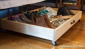 diy under bed storage drawer make a drawer on wheels to shoes under your