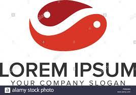 Couple Template Couple Fish Logo Design Concept Template Fully Editable Vector